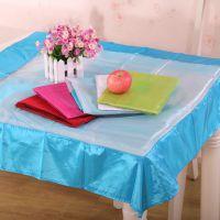 米悦 经典时尚纱质台布 桌布 多用巾 冰箱罩 餐桌布艺 特价批发