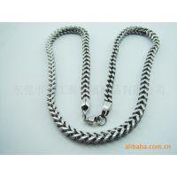不锈钢双焊链项链,无伤害的绿色高档环保饰品。