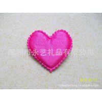 红色有花边心型 玩具爱心 贴海棉爱心 情人节用品爱心