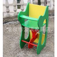 多功能儿童餐椅小饭桌 木马+餐椅+小桌子三种功能 创意木质儿童椅