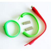 供应加工硅胶电子礼品硅胶手环U盘