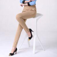 2014秋季新款韩版潮大码显瘦职业女装褶皱哈伦裤女时尚个性长裤子