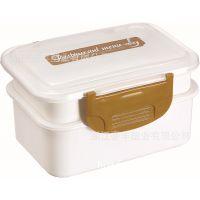 豪丰厂直销 HF-393 优质食品级塑料 可微波炉用 双层学生饭盒