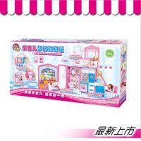 乐吉儿H36A芭比娃娃甜甜屋女孩DIY装扮过家家益智儿童玩具批发