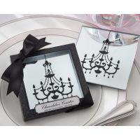 婚庆用品 结婚回礼 玻璃杯垫镜子杯垫餐垫