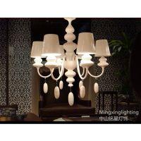 供应铭星简约现代创意水滴葫芦白色吊灯客厅卧室酒店灯饰灯具