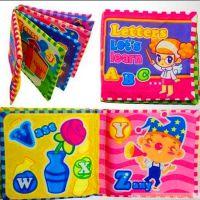 婴幼儿彩色字母图案早教布书 宝宝益智响纸学习书 儿童节礼物