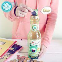 混批 创意啤酒瓶存钱罐 儿童大容量透明塑料储蓄罐  实用礼品