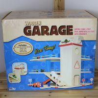英国大牌  小号木制停车场  环保益智  木制玩具
