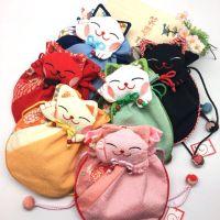 J5和风束口袋 AG-1A招喜屋招财猫抽绳袋化妆袋洗漱袋 6色入