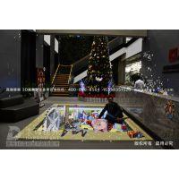 圣诞节主题3D地画 圣诞节3D立体画 东莞3D立体画 广州3D立体画制作