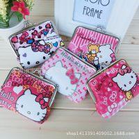批发Hello Kitty卡通零钱包可爱小钱包迷你硬币包搭扣收纳包
