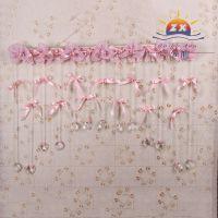 新款 婚庆结婚用品 装饰门帘 蝴蝶结心形线帘蕾丝挂帘装饰帘批发
