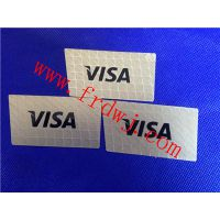 生产高档产品VISA商标铭牌 不锈钢高档金属商品标牌制作