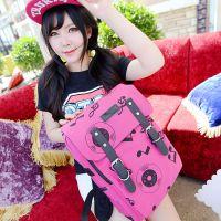 2014夏季新款小清新双肩包韩国爆款光盘音符背包学院流行风书包