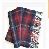 供应订制100%羊绒围巾格子/素色 批发