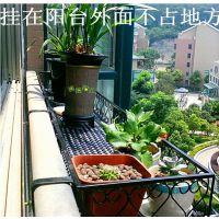 铁艺栏杆花架别墅护栏悬挂阳台壁挂式花盆架种菜盆栽多肉花架子