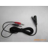 JS-3005 电脑电视耳机连接线 耳机麦克风转换线