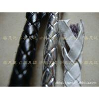 供应编织皮革绳子,皮绳 各颜色,金银皮革绳子