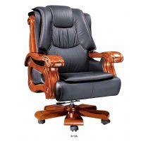 广州办公桌椅高背椅真皮大班椅实木办公椅 老板办公电脑椅