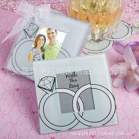 生日婚庆礼品结婚礼物婚庆用品回礼抽奖礼品钻戒相框玻璃杯垫