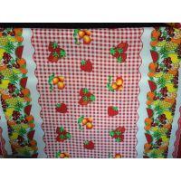 供应优质平纹呢印花桌布 水果圣诞花型