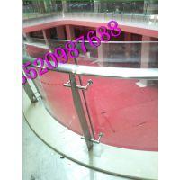 实心钢板大型商场夹玻璃不锈钢栏杆立柱商场厂家,山东商场夹玻璃不锈钢立柱定做