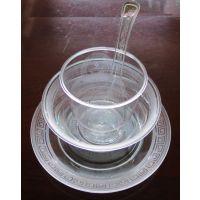 一次性酒店航空水晶餐具用品一次性杯子盘子碟子碗