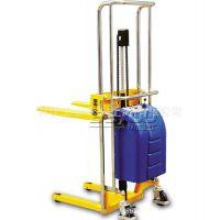 供应【专业品质】拜优(BAYOO)手动液压堆高车 半电动液压堆高车