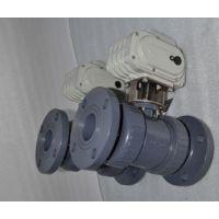 基斯顿 Q641F气动塑料法兰球阀/气动UPVC球阀 厂家价格