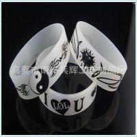 欧美手环 高要手环 透明硅胶手环 丝印硅胶手环
