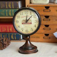金属工艺品 zakka杂货 欧式复古座钟 创意家居饰品 做旧 B1110