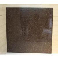 咖啡色聚晶抛光砖 二代微粉玻化砖地砖 客厅卧室地面铺贴瓷砖 楼梯砖