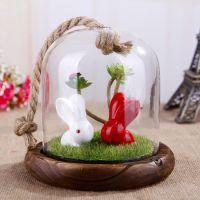 【新】zakka杂货 创意微景观兔子玻璃挂件 礼品 义乌批发 SF7145