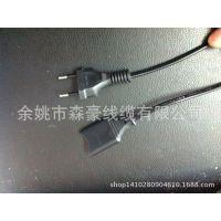 供应 INMETRO认证UC/TUV标准各种圆针 带八字尾 巴西插头电源线