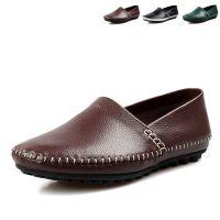 2014夏季新款真皮皮鞋男士潮流手工 豆豆鞋男式套脚时尚休闲皮鞋
