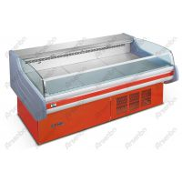 标准型生鲜肉食柜 敞开式鲜肉保鲜柜 卧式水果冷藏展示柜