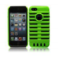苹果iPhone5手机壳 5g麦克风保护套 软硅胶 PC二合一 欧美热销