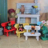 厂家直销【迷你】 小家具原木拍照拍摄道具小椅子椅创意椅子 四色