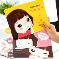 厂价批发创意卡通鼠标垫防滑游戏电脑韩国可爱妞子办公鼠标垫