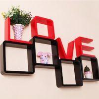 厂家直销特价创意格子LOVE壁挂隔板大号烤漆型时尚个性家居饰品