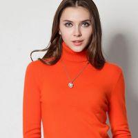 秋冬新款高领毛衣韩版纯色打底衫加厚修身羊毛衫女装羊绒衫