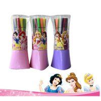 迪士尼文具18/色公主儿童绘画笔彩色水彩笔套装批发9154
