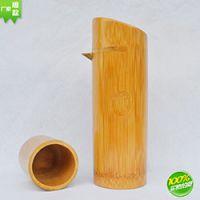 巨匠厂家定制出口精品日韩欧式厨房料理工具酒店用品碳化竹制酒瓶酒壶