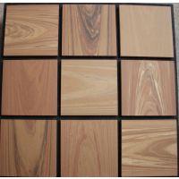 供应咖啡色150x150x12进口木纹砖
