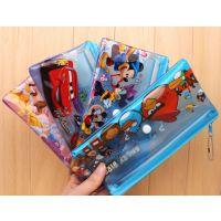 满72个包邮 高品质双层加厚拉链按扣透明笔袋 可爱卡通迪士尼图案
