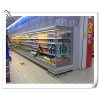 超市风幕柜,水果蔬菜保鲜柜,低温奶冷藏展示柜 ,佳伯立式冷柜