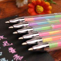 2286 创意情侣相册影集配件 韩版文具 6色彩虹水彩笔