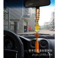 创意琉璃如意佛头汽车挂件 平安汽车车挂 琉璃车挂 优质款