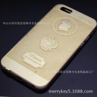 iphoneplus纯银后盖手机框 苹果6 iphone6镀黄金豪华高档手机壳